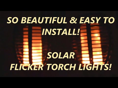 REVIEW Ambaret Solar Lights Outdoor Waterproof Flickering Flames Torches (2 pack)