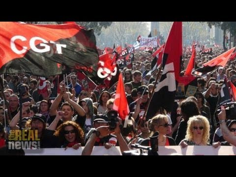 European Officials Pushing Austerity in Spain to Boost Corporate Profits By Repressing Unions