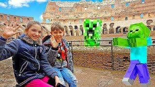 Приключения Адриана и Светы в Риме! Видеообзор блогеров Майнкрафт.