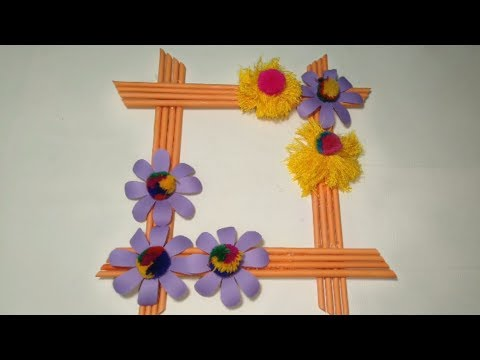 CREATIVE IDEAS MAKE A FRAME OF PHOTO FROM PAPER PHOTO FRAME EASY CRAFT