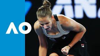 Camila Giorgi v Karolina Pliskova match highlights (3R) | Australian Open 2019