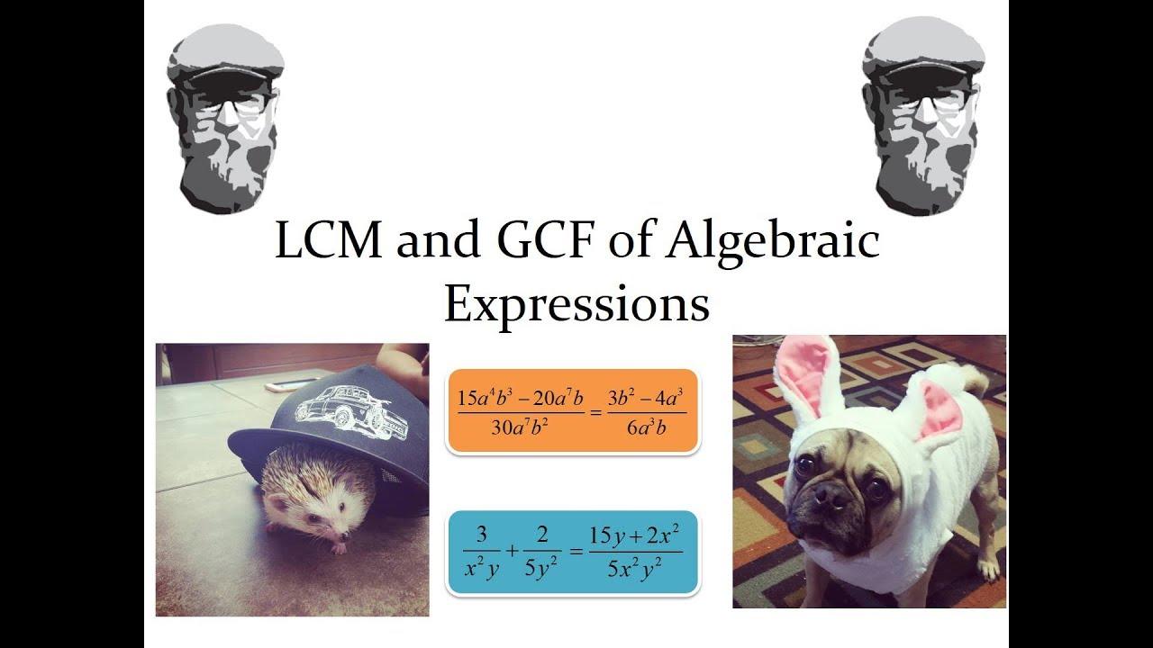 Simplifying Algebraic Fractions  Reducing To Lowest Terms Andmon  Denominators Lcm Gcf