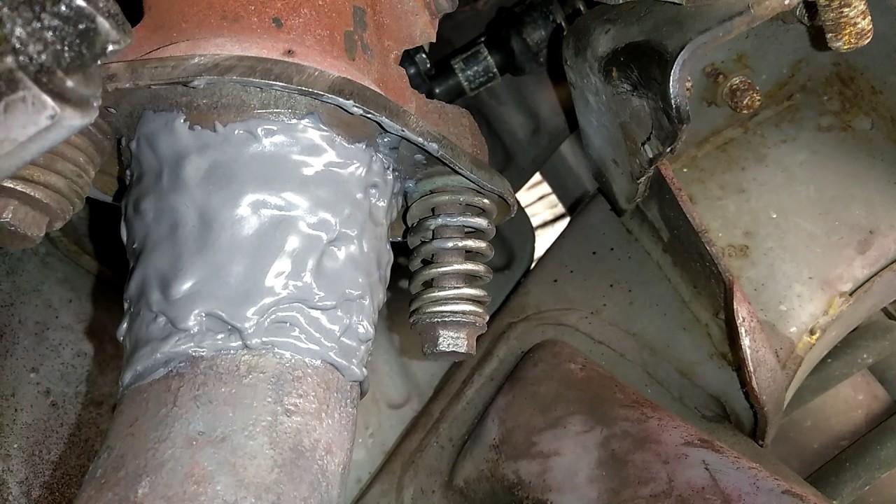 J B Weld Exhaust Pipe Repair Close Up Youtube