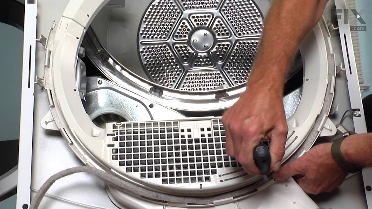 ge dryer repair how to replace the duct felt seal [ 1280 x 720 Pixel ]