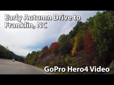 Early Autumn Drive To Franklin NC from Asheville