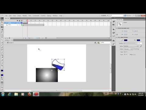 Adobe Flash Design  Motion Part 1 How to make object to animation