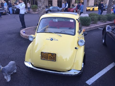 BMW Isetta Bubble Car at Cars & Coffee Scottsdale AZ.