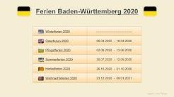 Ferien Baden Württemberg 2020 - Termine Schulferien