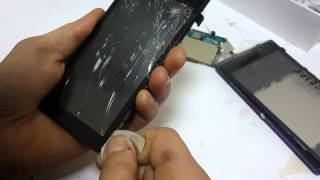 Sensor Sony C disassembly Xperia C2305. Ta'mirlash Sony almashtirish sensorli ekran telefon