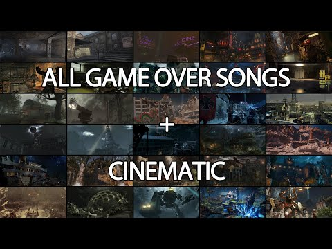 All CoD Zombie Game Over Songs W/ Cinematic (Nacht - Tag)