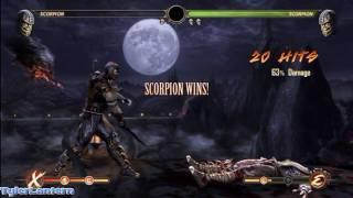 MK9 - Scorpion 63% Damage Combo (Without X-RAY) - Mortal Kombat 9 (2011) MK Demo Gameplay