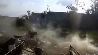 Война видео Украина Донбас  АТО Прямое попадание из танка по позиции 93 бригады ВСУ   YouTube