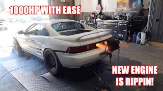 Twin Turbo Mr2 Is Back! (Dyno Session On the New Engine)