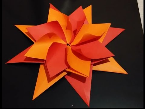 Easy and awesome origami star flower youtube easy and awesome origami star flower mightylinksfo