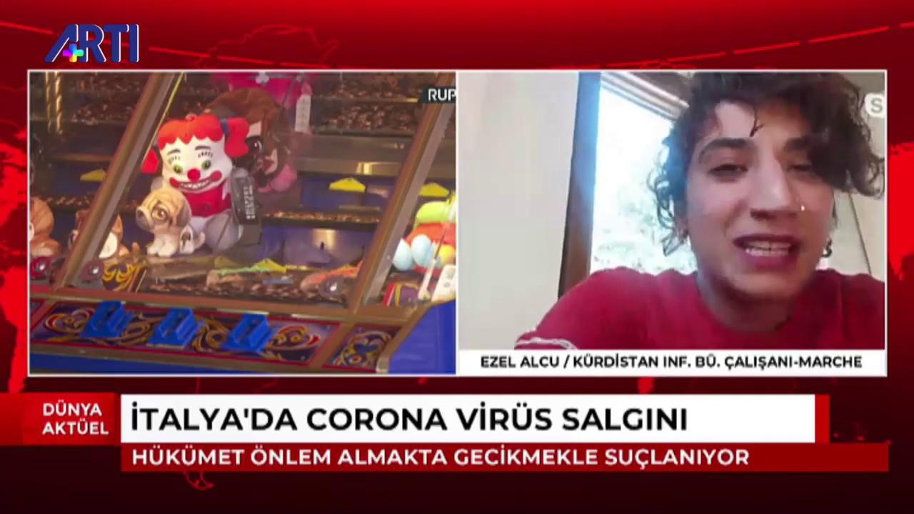 İtalya'da Corona virüs salgınıyla ilgili son gelişmeleri Ezel Alcu anlatıyor.