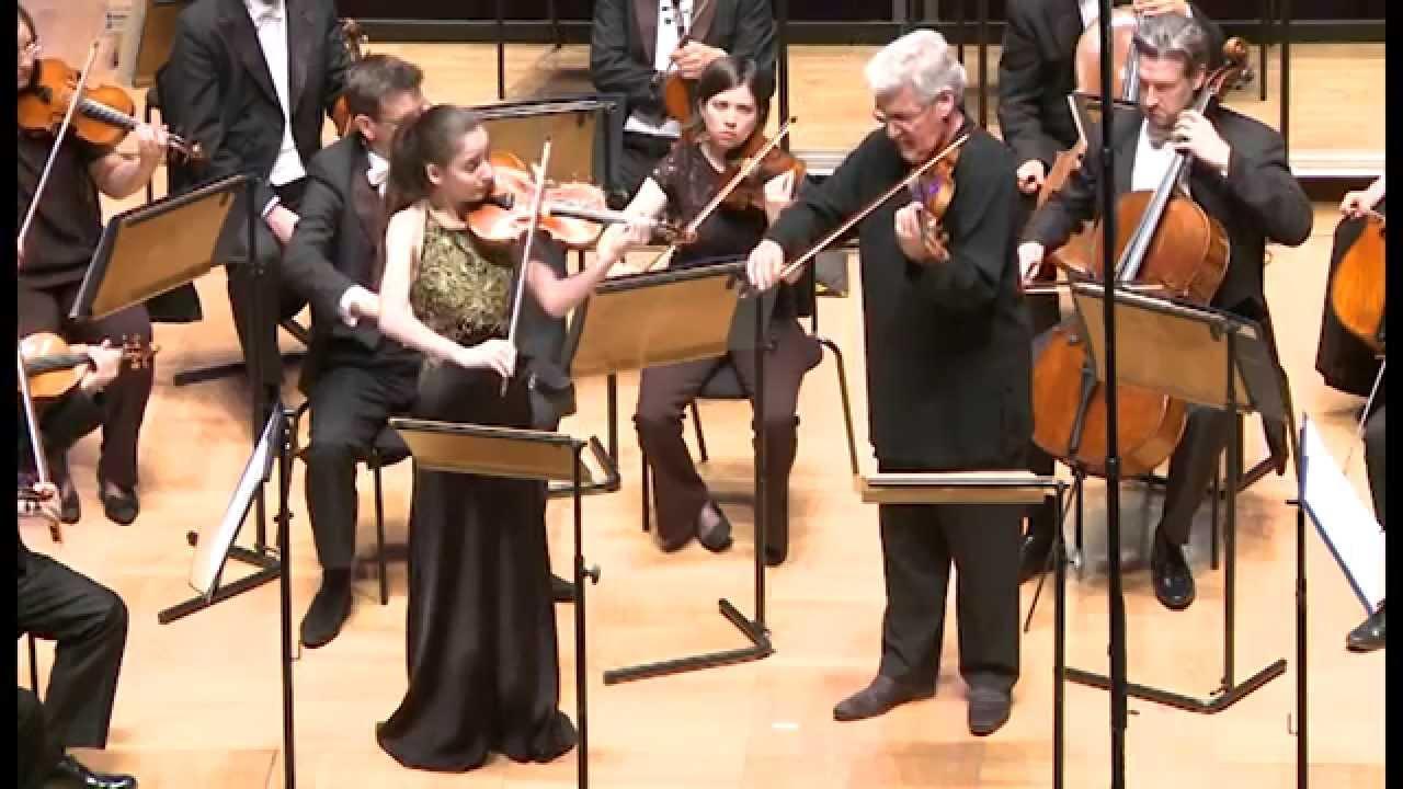 Pinchas Zukerman & Diana Adamyan (15 years old )- Bach - Concerto for 2 Violins in D Minor