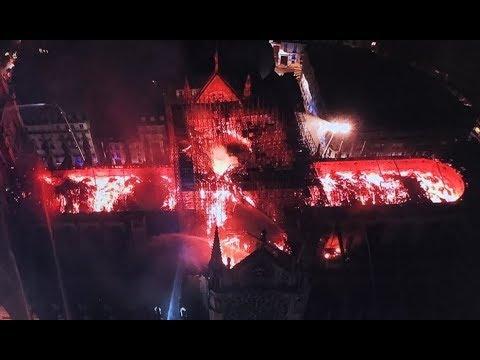 Пожар в соборе Парижской Богоматери. МВД Франции: Возможно, его не удастся спасти