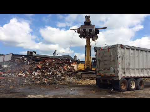 Demolition of Le Moyne Manor, a Liverpool landmark, underway
