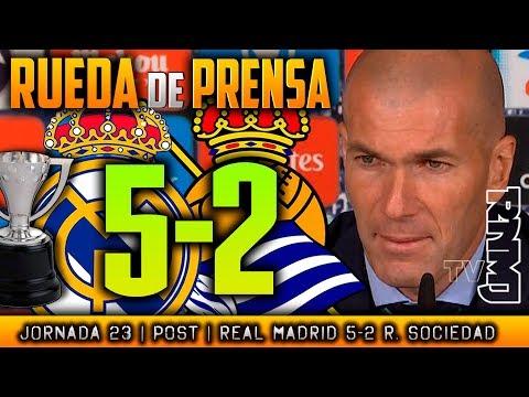 Real Madrid 5-2 Real Sociedad Rueda de prensa de Zidane (10/02/2018)   POST LIGA JORNADA 23