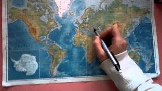 ფიზიკური რუკა ზღვები და ოკეანეები