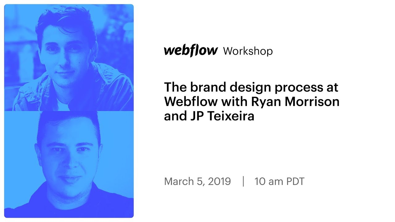 The brand design process at Webflow with Ryan Morrison and