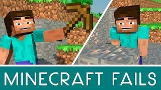 Minecraft Animation Fails Parody 1 - The Wooden Pickaxe