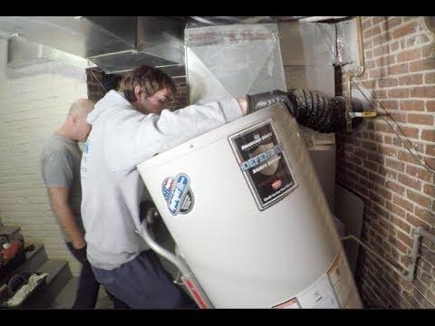 50 Gallon Bradford White Hot Water Heater Installed