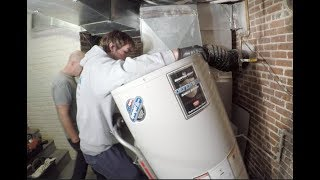 50 Gallon Bradford White Hot Water Heater Installed