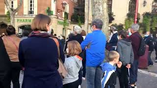 Hommage à Samuel Paty : plus d'une centaine de personnes à Manosque
