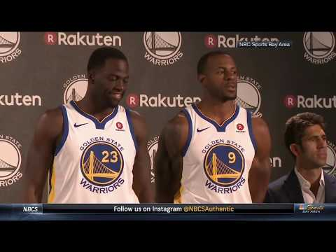 Draymond Green and Andre Iguodala debut Warriors jersey with patch | ESPN