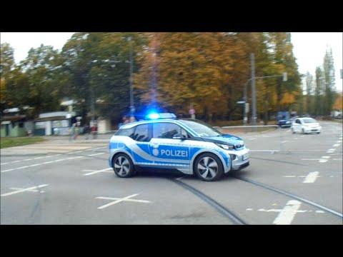 Erprobungsfahrzeug Polizei Bayern BMW i3 in München