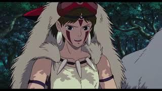 """Принцесса Мононоке - Песня """"Маленькая девочка со взглядом волчицы"""""""