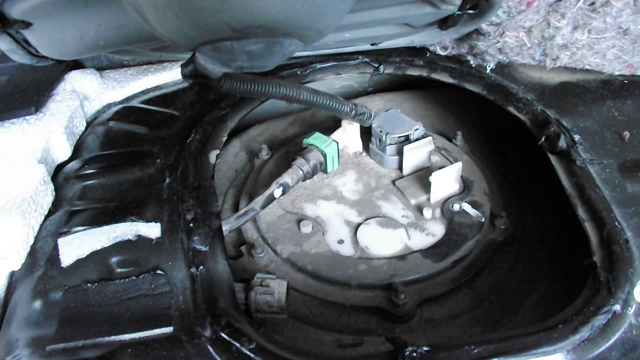 Location of intank fuel filter in a 2010 Mitsubishi