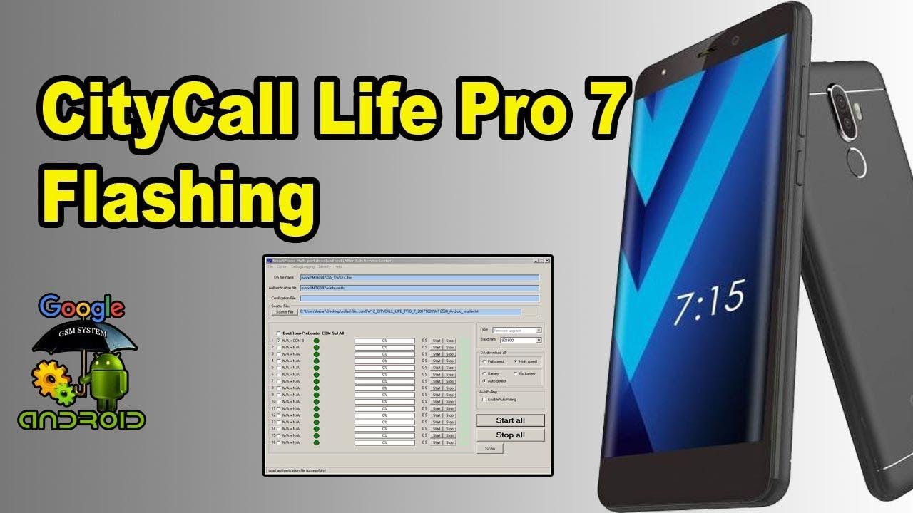 CityCall Life Pro 7 Flashing
