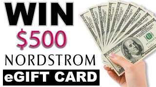 X CLOSED X - $500 e-Gift Card Giveaway for Nordstrom