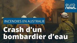 Incendies en Australie : trois pompiers se tuent dans le crash de leur avion
