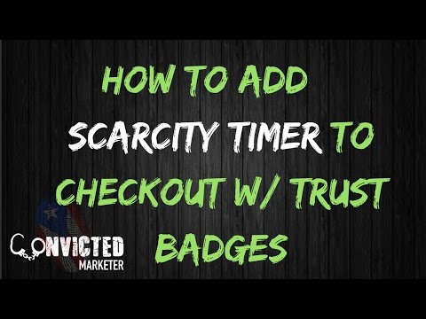 How To Add Scarcity Timer to Shopify Checkout Page w/ Trust Badges