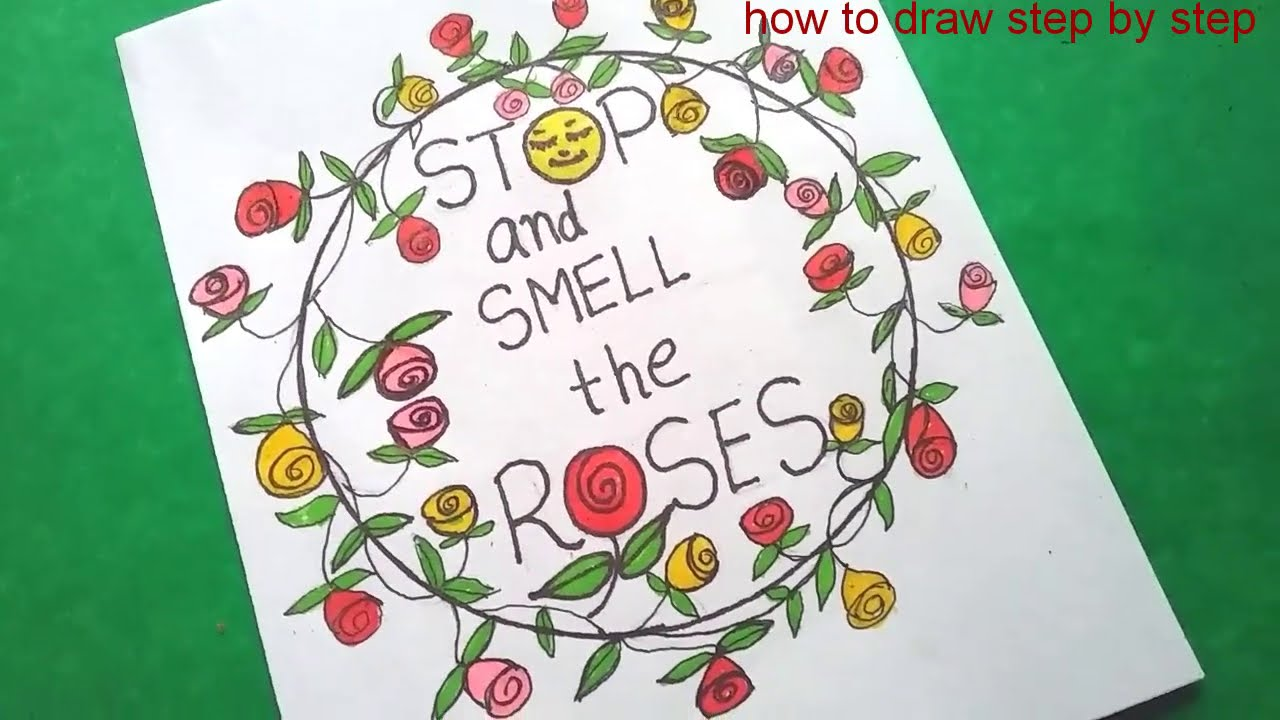 How to draw roses step by step | freehand drawing, greetingcards diy |  @how to draw step by step