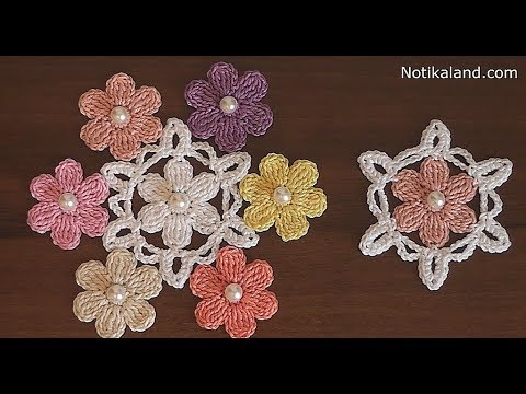 Crochet flower applique very easy crochet flower motif youtube