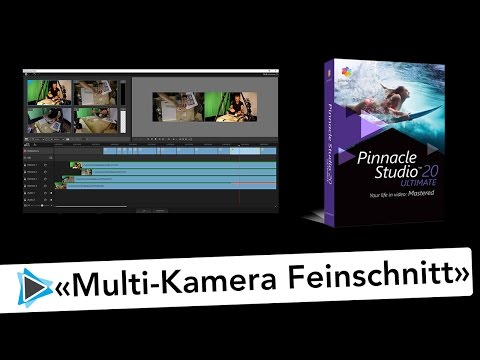 Multikamera Editor Feinschnitt und Schnitte korrigieren in Pinnacle Studio 20 Deutsch Video Tutorial