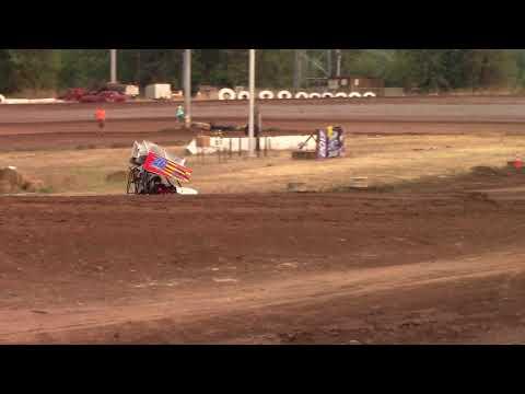 Cottage Grove Speedway, OR - 125cc Cage-Kart Heat #1 - Sept. 2, 2017