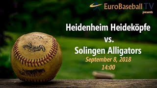 Baseball Bundesliga SEMIFINAL Game 1: Heidenheim Heideköpfe vs. Solingen Alligators