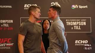UFC Fight Night Liverpool: Stephen Thompson vs. Darren Till Media day face off
