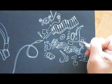 Music Doodles on Black Paper (Sarazorel x Sudio Sweden)   Doodle with Me