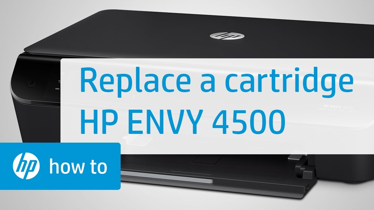 replacing a cartridge hp envy 4500 e all in one printer. Black Bedroom Furniture Sets. Home Design Ideas
