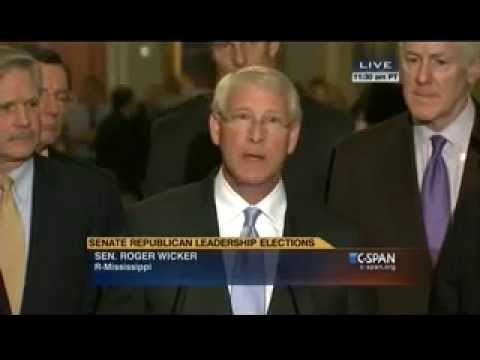 Senator Roger Wicker at the Senate Republican Leadership Election News Conference