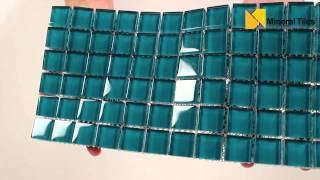 Glass Mosaic Tile Backsplash Turquoise 1x1 - 101CHIGLABR137