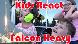 Falcon Heavy Launch - Kids reactions on location!
