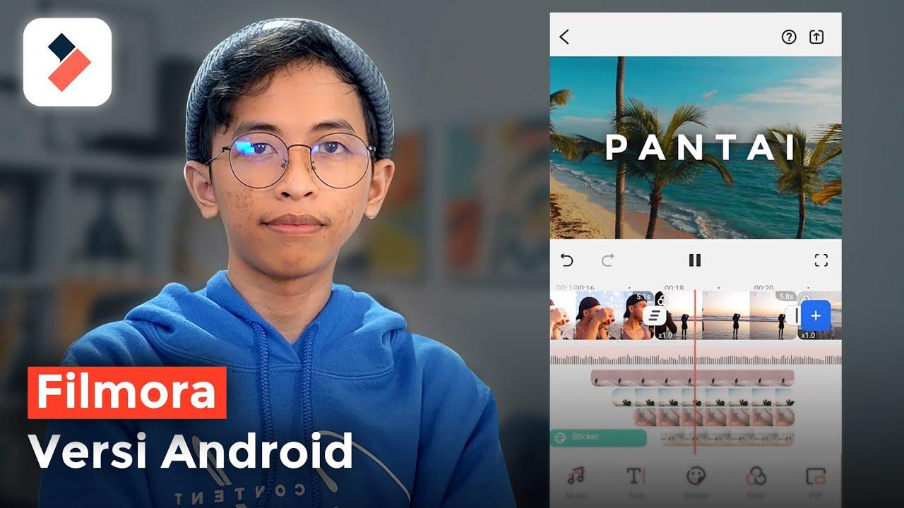 Cara Edit Video Youtube di Hp Android 2020 - FilmoraGo Tutorial