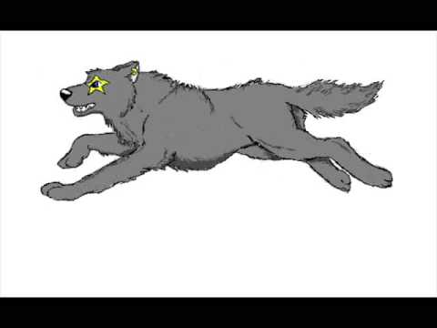 Wolf Running Animation Frames
